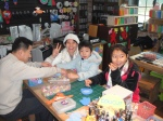At the craft shop, kids enjoy making their own souvenirs-an ideal location for educational materials if the park were to choose to allow them