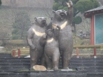 Majestic bear statues caught our eye throughout the park